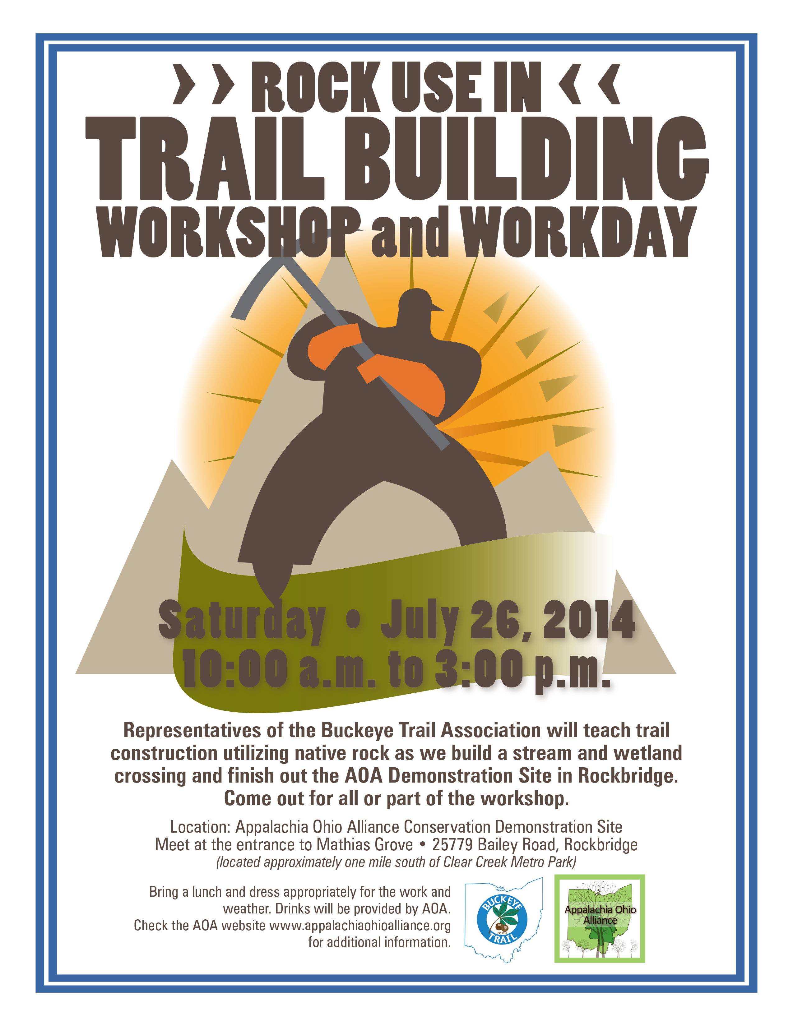 Rock Use in Trail Building Workshop