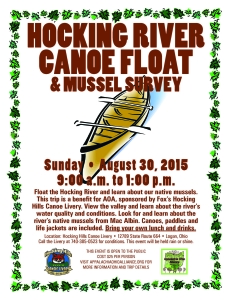 Hocking River Canoe Float and Mussel Survey